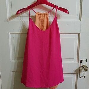 Reversible Sleeveless Top Pink and Orange